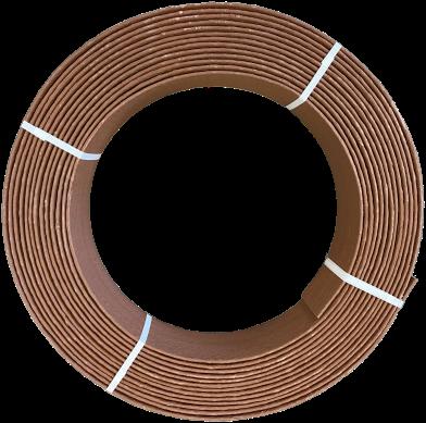Ekoboard randafwerking 14 cm x 25 meter - Bruin Cortenstaal